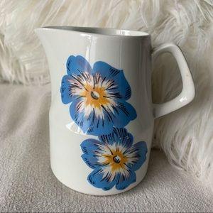 Vintage Wood & Sons England Blue Floral Cream Jug